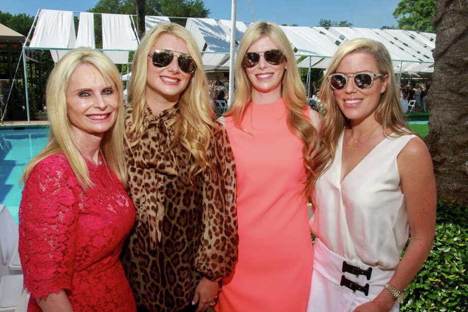 Jo Lynn Falgout, from left, Christine Falgout, Kimberly Falgout and Holly Alvis at the Clay Court Tennis Fashion Show luncheon at River Oaks Country Club. Photo: Gary Fountain, For The Chronicle/Gary Fountain / Copyright 2018 Gary Fountain