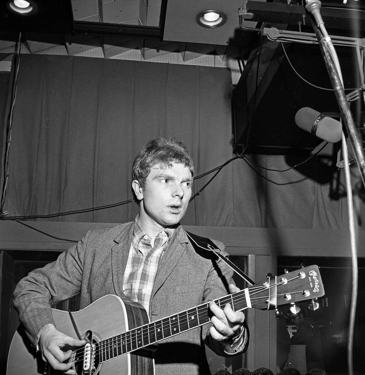 Van Morrison in a New York City studio in 1967.
