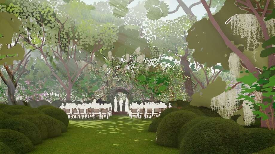 Phase 1 of the Houston Botanic Garden will include an event lawn and glade along Sims Bayou. Photo: West 8 / West 8