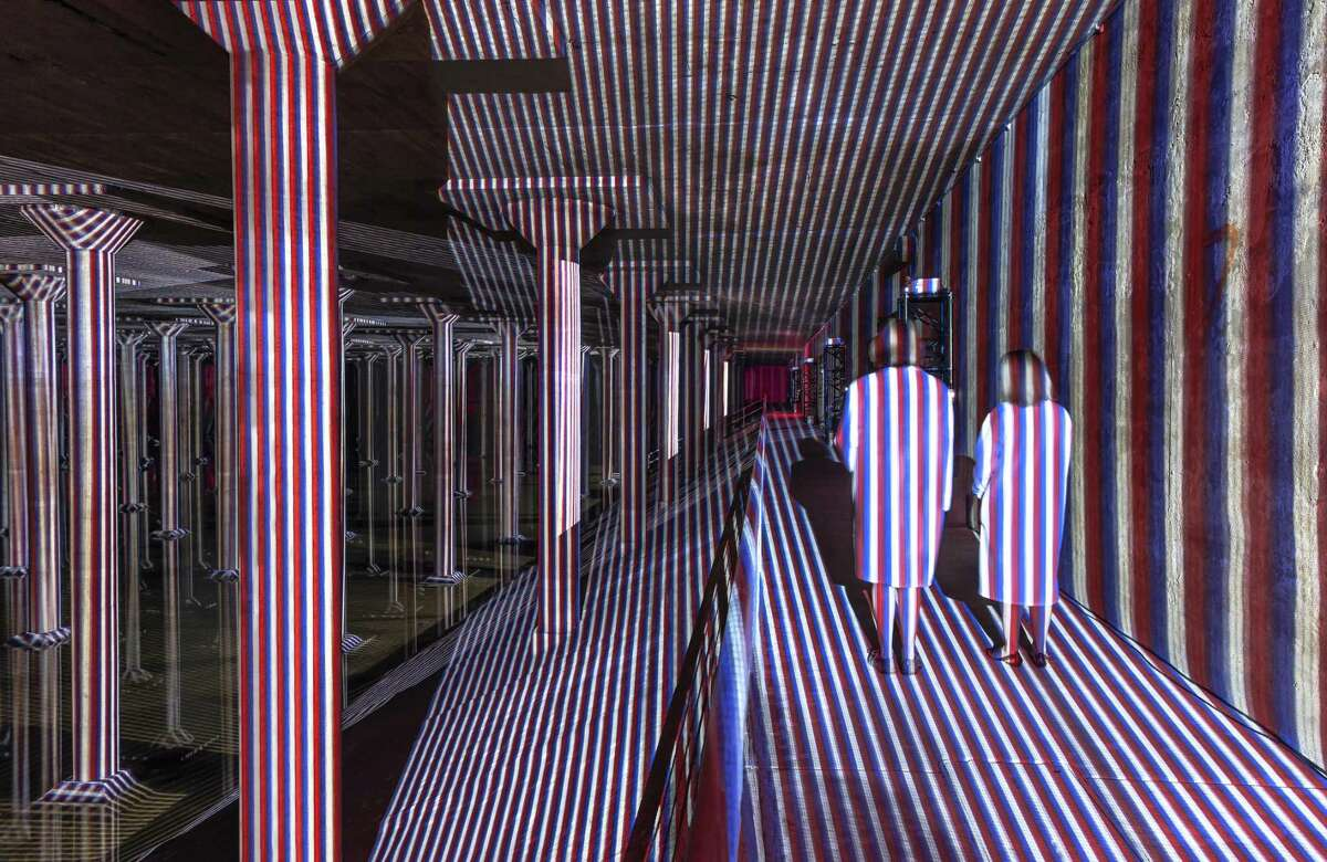 """""""Carlos Cruz-Diez at the Cistern: Spatial Chromointerference"""" will be on view May 12-Jan. 13 at the Buffalo Bayou Park cistern."""