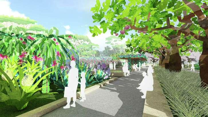 An edible garden is among the phase 1 projects at the Houston Botanic Garden.