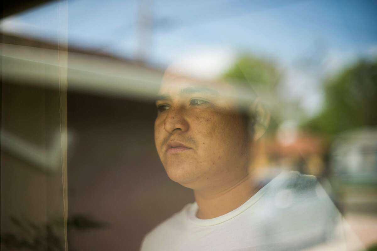 Carlos Alfredo Rueda Cruz, photographed on Saturday April 7, 2018 in Sacramento, CA. Rueda Cruz suffered shoulder and neck pain after being violently grabbed by ICE agents in Sacramento in September as the agents tried to force him to sign documents. He was then denied medical treatment while in custody at West County Detention Facility in Richmond, the only jail that houses ICE detainees in the Bay Area.