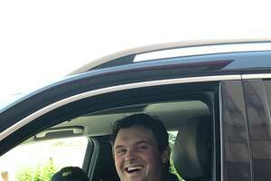 Patrick Reed, fresh of his win at the 2018 Masters, was spotted wearing his green jacket with his wife, Justine, at a Chick-fil-A in The Woodlands.