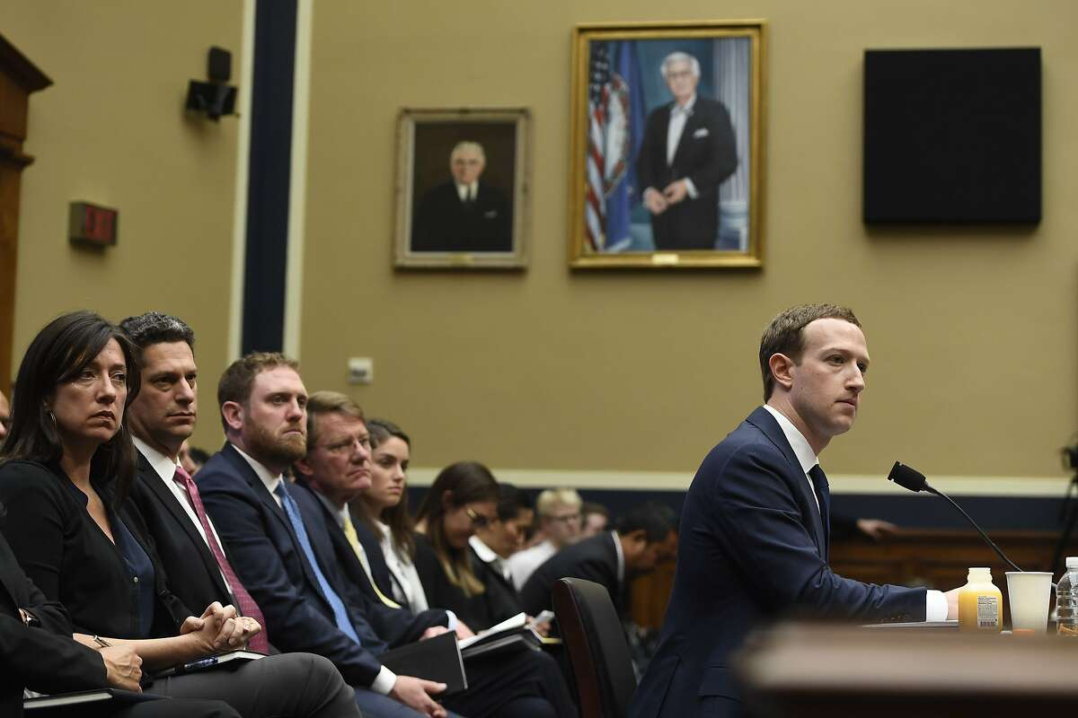 Facebook CEO and founder Mark Zuckerberg testifies during a US House Committee on Energy and Commerce hearing about Facebook on Capitol Hill in Washington, DC, April 11, 2018. / AFP PHOTO / SAUL LOEBSAUL LOEB/AFP/Getty Images