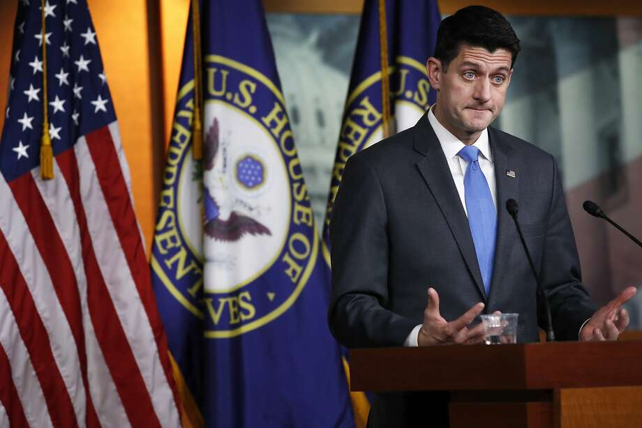 House Speaker Paul Ryan of Wis., announces that he will not run for re-election at the end of this term, Wednesday, April 11, 2018, on Capitol Hill in Washington. (AP Photo/Jacquelyn Martin) Photo: Jacquelyn Martin / Associated Press