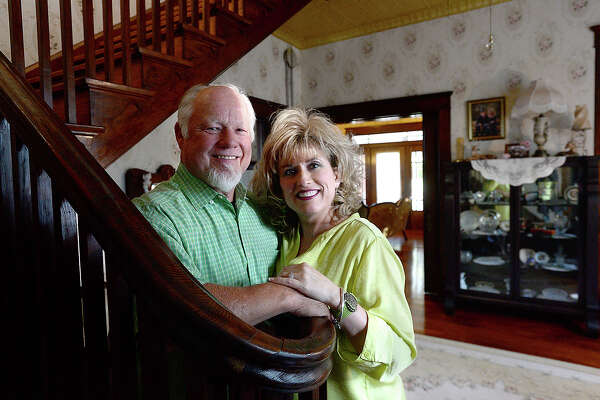 Mike and Suzanne Kibodeaux moved into the historical Sour Lake home known as Sunnyside two years ago. The house was built by oil tycoon Miles Frank Yount, who also built the Mildred Building, named after his daughter. The home will be one of a handful of Hardin County sites to receive an official historical marker during a ceremony in May. Photo taken Tuesday, April 10, 2018 Kim Brent/The Enterprise
