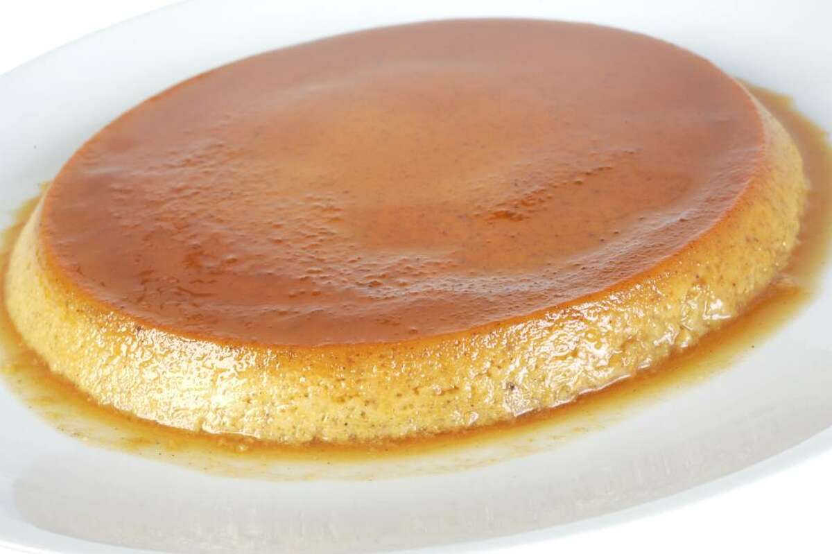 Pumpkin flan offers the best of pumpkin pie without the hassle of a crust. (Penni Gladstone)