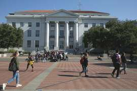Sproul Hall at the UC Berkeley campus on Wednesday, November 1, 2017, in Berkeley, Calif..