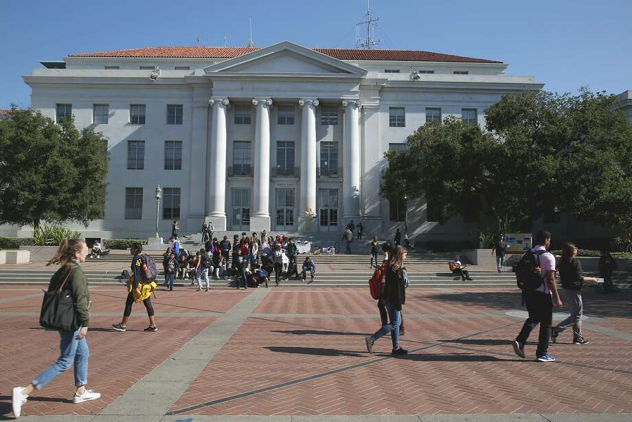 FILE -- Sproul Hall at the UC Berkeley campus on Wednesday, November 1, 2017, in Berkeley, Calif. Despite its left-leaning rep, Cal was not mentioned in the Princeton Review's recent list of most liberal colleges. Photo: Liz Hafalia / The Chronicle