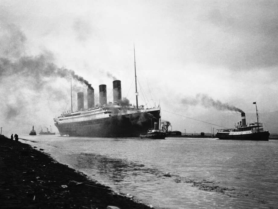 The RMS Titanic leaves Belfast for sea trials. Built in the Belfast shipyards of Harland and Wolff, the luxury liner was said to be unsinkable. Photo: Hulton Deutsch/Corbis Via Getty Images