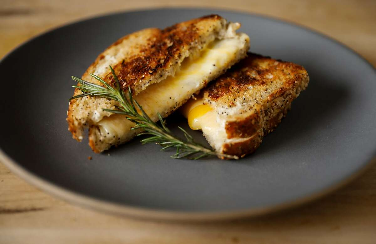 Ayesha Curry's Rosemary Grilled Cheese recipe is seen on Wednesday, April 4, 2018 in San Francisco, Calif.