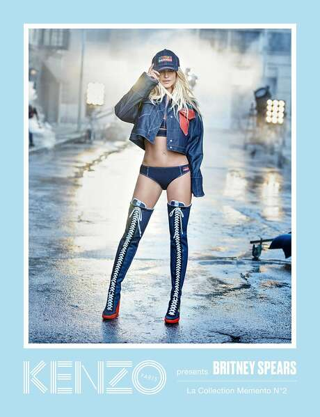 Peter Lindbergh photographed Britney Spears for Kenzo's La Collection Memento N°2. The French brand is being sued by Levi Straus over trademark infringement. Photo: Peter Lindbergh For Kenzo