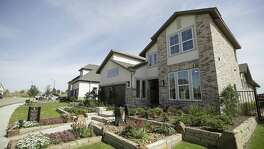 A model home by Trendmaker Homes in Parkland Village in the master-planned community of Bridgeland is shown Wednesday, March 21, 2018, in Houston. ( Melissa Phillip / Houston Chronicle )