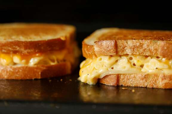 Mac and Cheese Grilled Cheese, an American Grilled Cheese Kitchen recipe, is seen on Wednesday, April 4, 2018 in San Francisco, Calif.