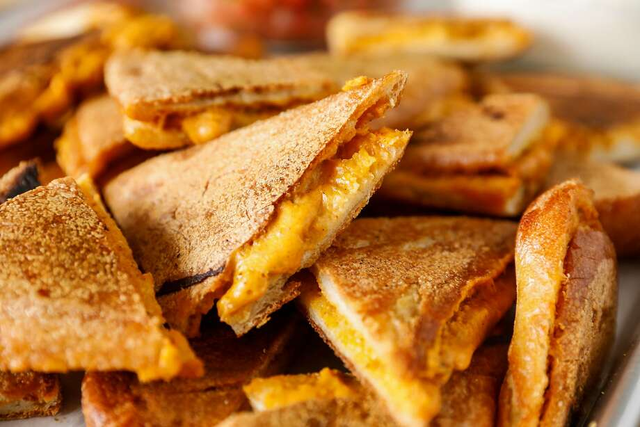 Nacho Grilled Cheese sandwiches. Photo: Russell Yip / The Chronicle