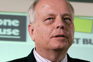 FILE - In this May 8, 2008 file photo, Brad Anderson, vice chairman and CEO of Best Buy, looks on following a news conference in London. The former CEO has resigned from the boards of five organizations following a report that he contributed to a nonprofit organization that distributed inflammatory anti-Muslim videos on social media. Anderson resigned from its board of directors, as well as General Mills, Waste Management, Carlson and Mayo Clinic. (AP Photo/Alastair Grant, File)