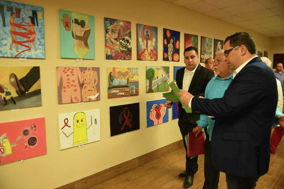 El Departamento de Salud de la Ciudad de Laredo organizó una exhibición de arte en el marco del programa LETS, el martes 10 de abril de 2018. Photo: Danny Zaragoza /Laredo Morning Times