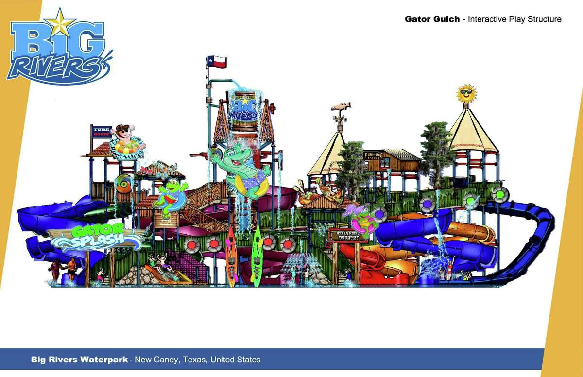 Big Rivers Waterpark and Gator Bayou Adventure Park are planned to be built next to each other in New Caney, Texas on SH 242 as part of the Grand Texas theme park.
