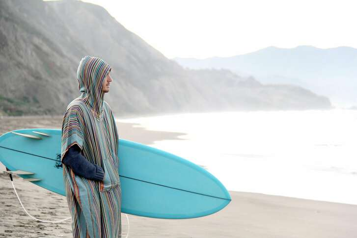 Marlin Ray is a collection of unisex surf ponchos ($78) made using fair trade cotton sewn at Wildlife Works' factory in Kenya.