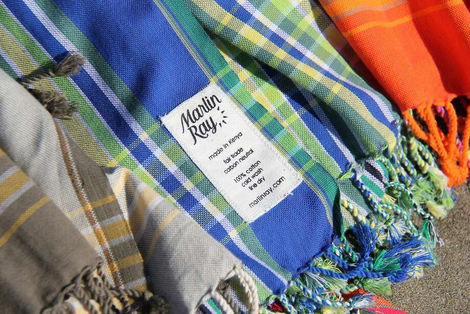 Mill Valley's Wildlife Works has a wildlife preserve and clothing factory in Kenya that produces Marlin Ray's new capsule collection of unisex surf ponchos. Photo: Marlin Ray