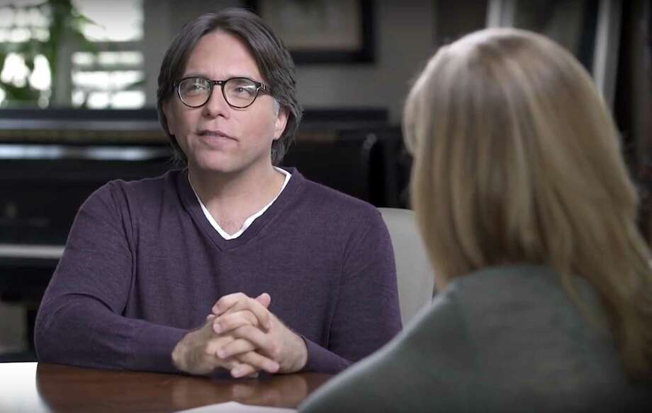 "NXIVM leader Keith Raniere and Allison Mack appear in a group of videos titled ""Keith Raniere Conversations,""  that were published on YouTube on April 9, 2017. (Keith Raniere Conversations/YouTube) Photo: Keith Raniere Conversations/YouTube"