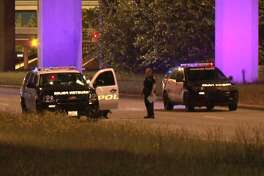 A Jeep struck and killed a bicyclist on the Sam Houston Tollway feeder road, on Wednesday night, April 11, 2018.