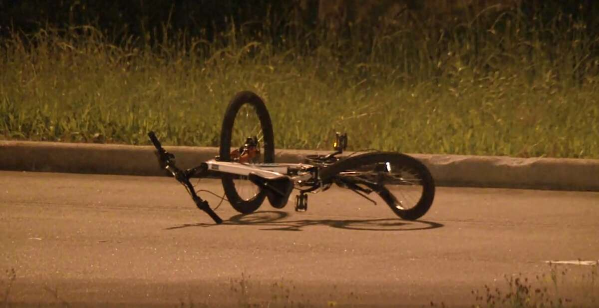 A Jeep struck and killed a bicyclist on Beltway 8 on April 11.