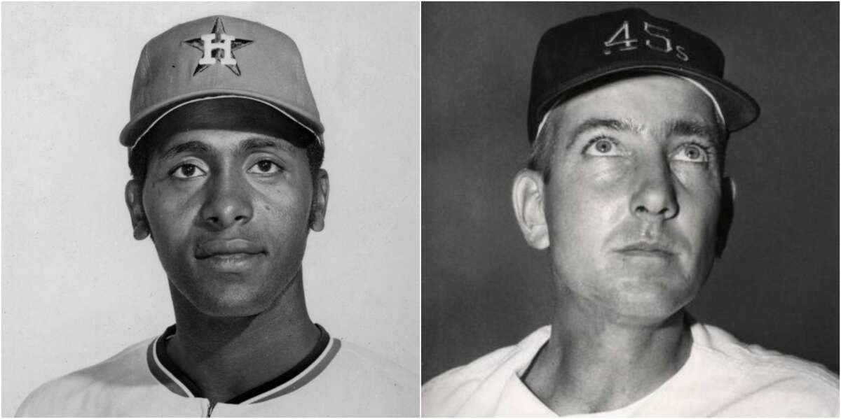 Few fans who pile into Minute Maid Park probably have a clue just who Jim Umbricht (right) and Don Wilson (left) were, even though their respective numbers have been retired by the team and adorn one wall in the ballpark. See more photos of the players in their prime...