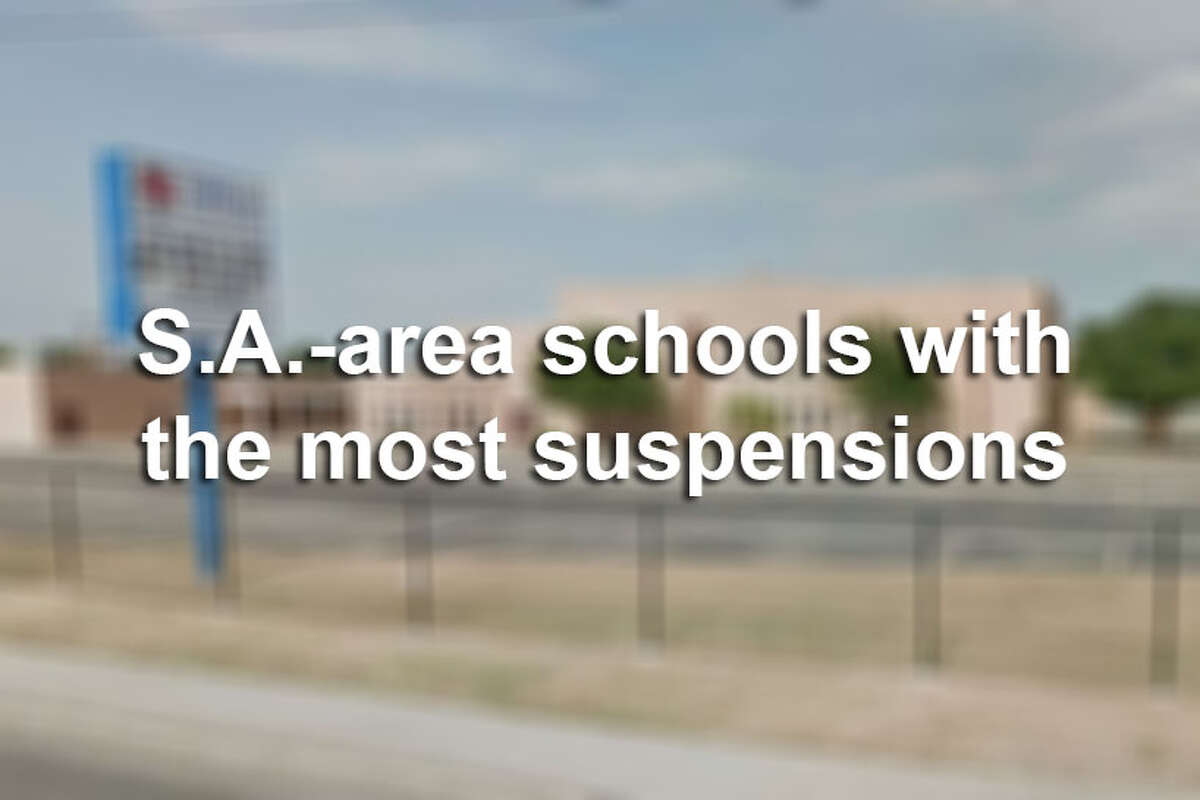 Thousands of students received out-of-school suspensions in the 2015-2016 year, records obtained by mySA.com show. Click ahead to view San Antonio-area schools with the most reported suspensions in the 2015-16 school year.