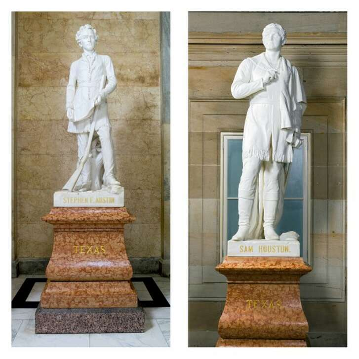 A Texan's claim about the statues of Stephen F. Austin and Sam Houston in the U.S. Capitol touched off a PolitiFact Texas fact-check (Architect of the Capitol photos).