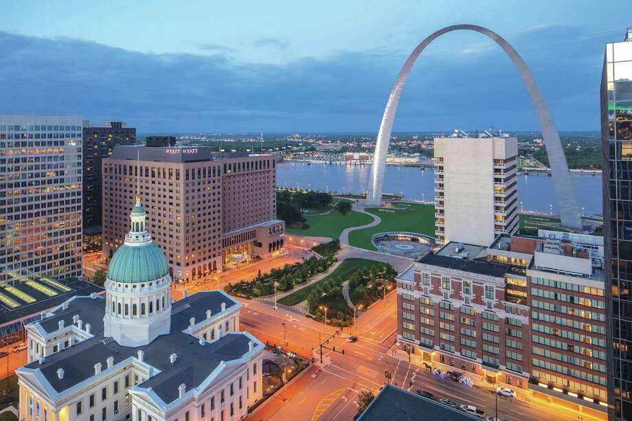 The Hyatt Regency, upper left, in downtown St. Louis. Photo: For The Edge
