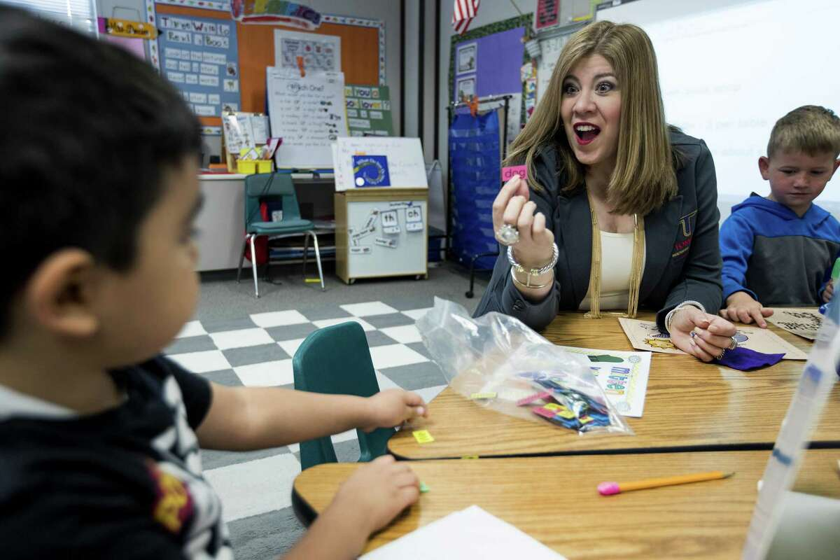 #2 Tomball ISD 2018-2019 enrollment: 16,962 Growth rate from previous year: 6.46 percent Enrollment growth from previous year: 1,029 Dr. Martha Salazar-Zamora, Tomball ISD superintendent, sits down with Gonzalo Quiroga while visiting his kindergarten class at Willow Creek Elementary School on Wednesday, March 21, 2018, in Tomball. ( Brett Coomer / Houston Chronicle )