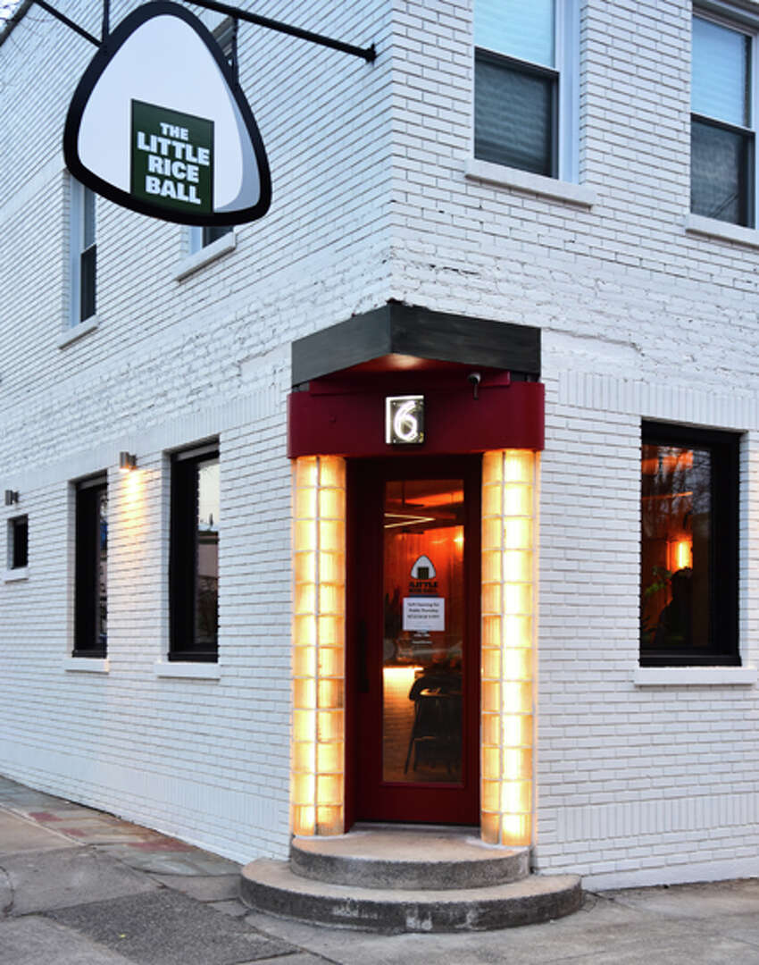 The exterior of The Little Rice Ball at 6 Franklin Place (the corner at Fourth and Liberty streets) in Troy.