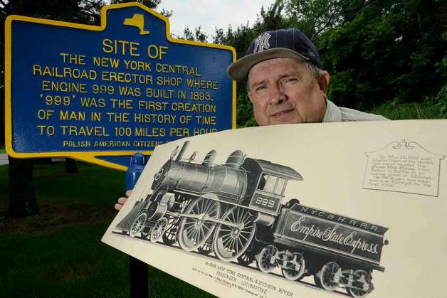 Railroad historian Richard J. Barrett stands at the site of the former New York Central Railroad Erector Shop where the historic engine #999 was built -- the first locomotive to top the 100 mph. The Capital Region greatly influenced the rail industry, and the industry was an huge employer here in the early to mid-1900s. ( Michael P. Farrell / Times Union ) Photo: MICHAEL P. FARRELL