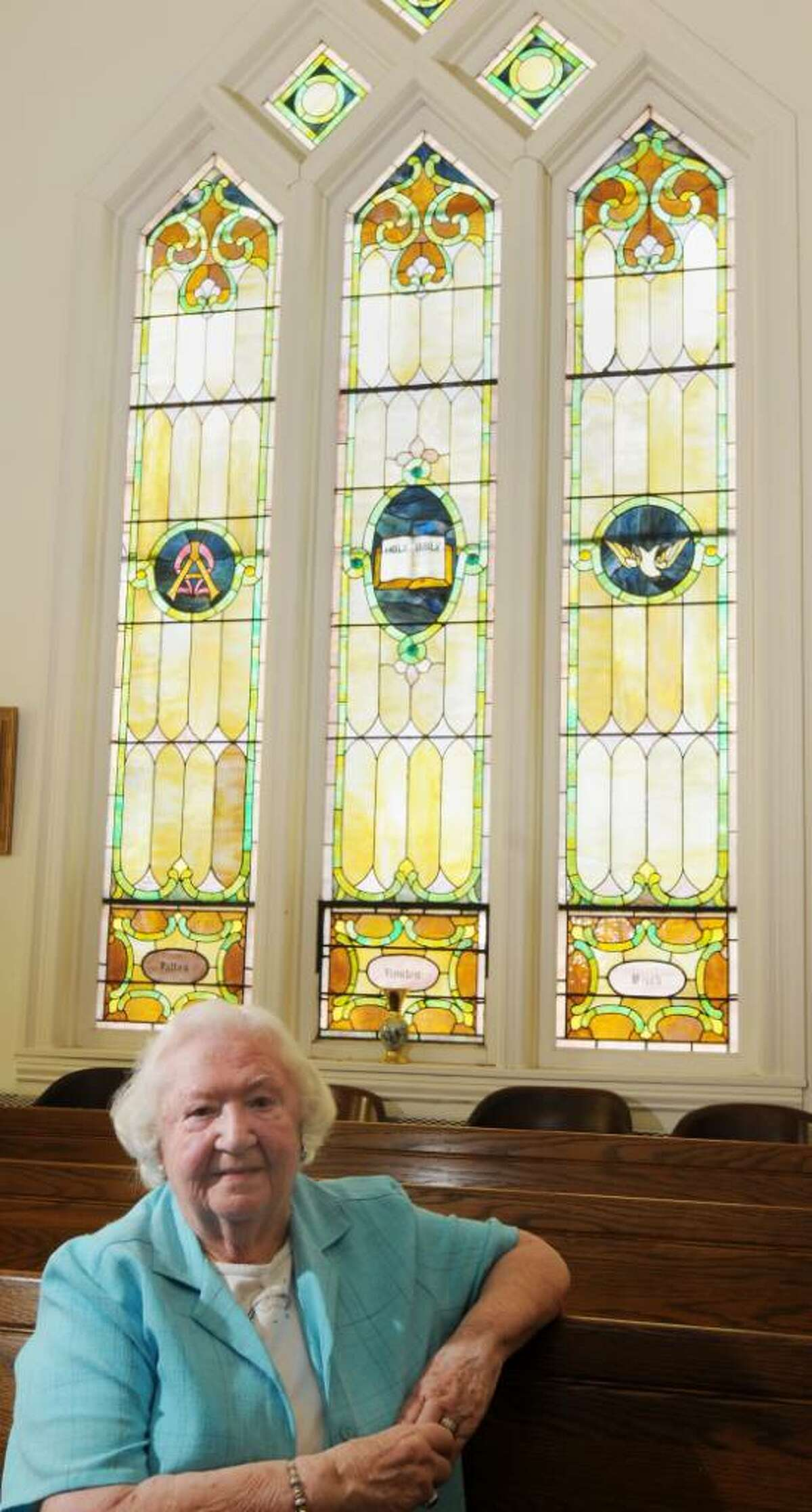 Margaret Hems, 87, volunteer organist and pianist at the Center Brunswick United Methodist Church in Center Brunswick will be honored by the church on June 5 at the Brunswick Elks Lodge where she and her late husband also volunteered. (Luanne M. Ferris/Times Union)