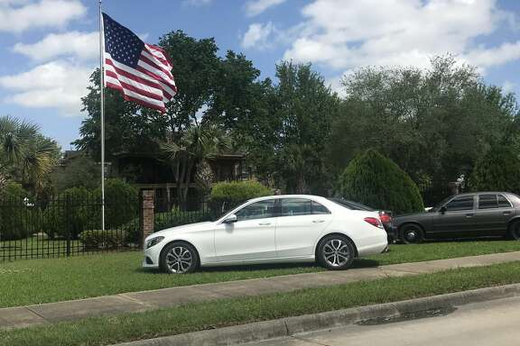 Pearland police are searching for a blue Mercedes Benz C300 that was stolen Thursday, April 12, 2018 during a home invasion robbery in the 3100 block of Yost.