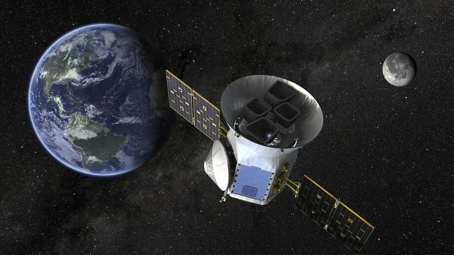 An illustration of the Transiting Exoplanet Survey Satellite (Tess). Scientists expect Tess to find thousands of exoplanets — the term for planets outside our solar system. Photo: NASA