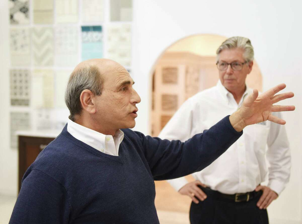 Fordham Marble Owner Mario Sardo talks at Fordham Marble in Stamford in 2016. The family-run company that manufactures countertops out of marble, granite, and quartz is moving its production to Bridgeport.