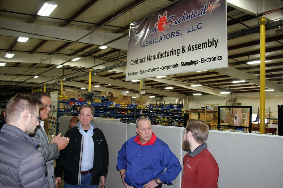 State Attorney General Bill Schuette, a candidate for Governor of Michigan, visited American Technical Fabricators in Bad Axe, Thursday afternoon. Photo: Seth Stapleton/Huron Daily Tribune