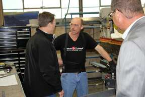 State Attorney General Bill Schuette, a candidate for Governor of Michigan, visited American Technical Fabricators in Bad Axe, Thursday afternoon.