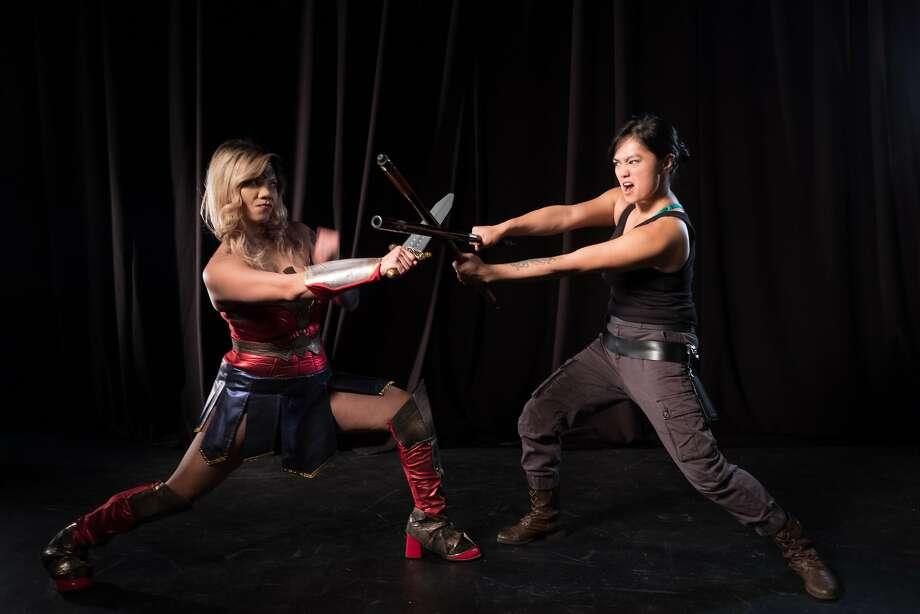 "From left:Russelle Anne and Raisa Donato in ""The Geek Show 2: BindleCon"" at Bindlestiff Studio. Photo: Paciano Triunfo, Bindlestiff Studio"