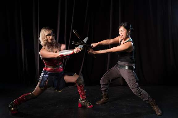 """From left:Russelle Anne and Raisa Donato in """"The Geek Show 2: BindleCon"""" at Bindlestiff Studio."""