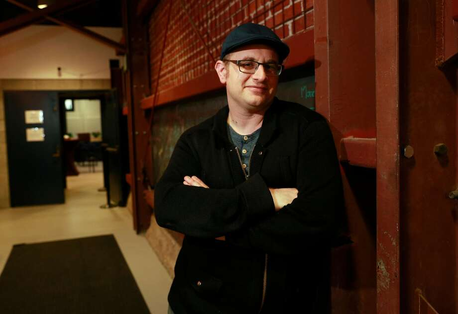 """Playwright Jonathan Spector stands at the Aurora Theatre, where he will debut the world premiere of """"Eureka Day"""", as seen on Fri. April 6, 2018, in Berkeley, Calif. Photo: Michael Macor, The Chronicle"""