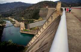 Shasta Dam on Wed. April. 4, 2018, in Shasta Lake, Calif. The Trump administration and Republicans want to raise the height of the Shasta Dam.