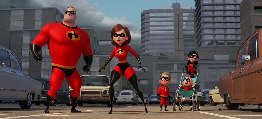 """Incredibles 2"" brings back the superhero family from the popular 2004 Pixar film. Photo: Pixar Animation Studios 2004"
