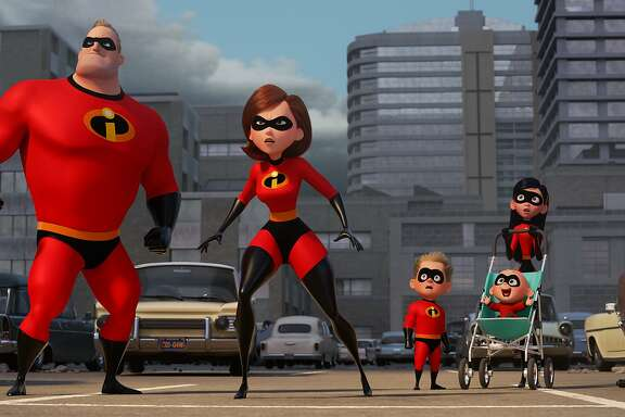 """""""The Incredibles"""" brings back the family from the popular 2004 Pixar movie, including Mr. Incredible, Elastigirl and baby Jack Jack."""