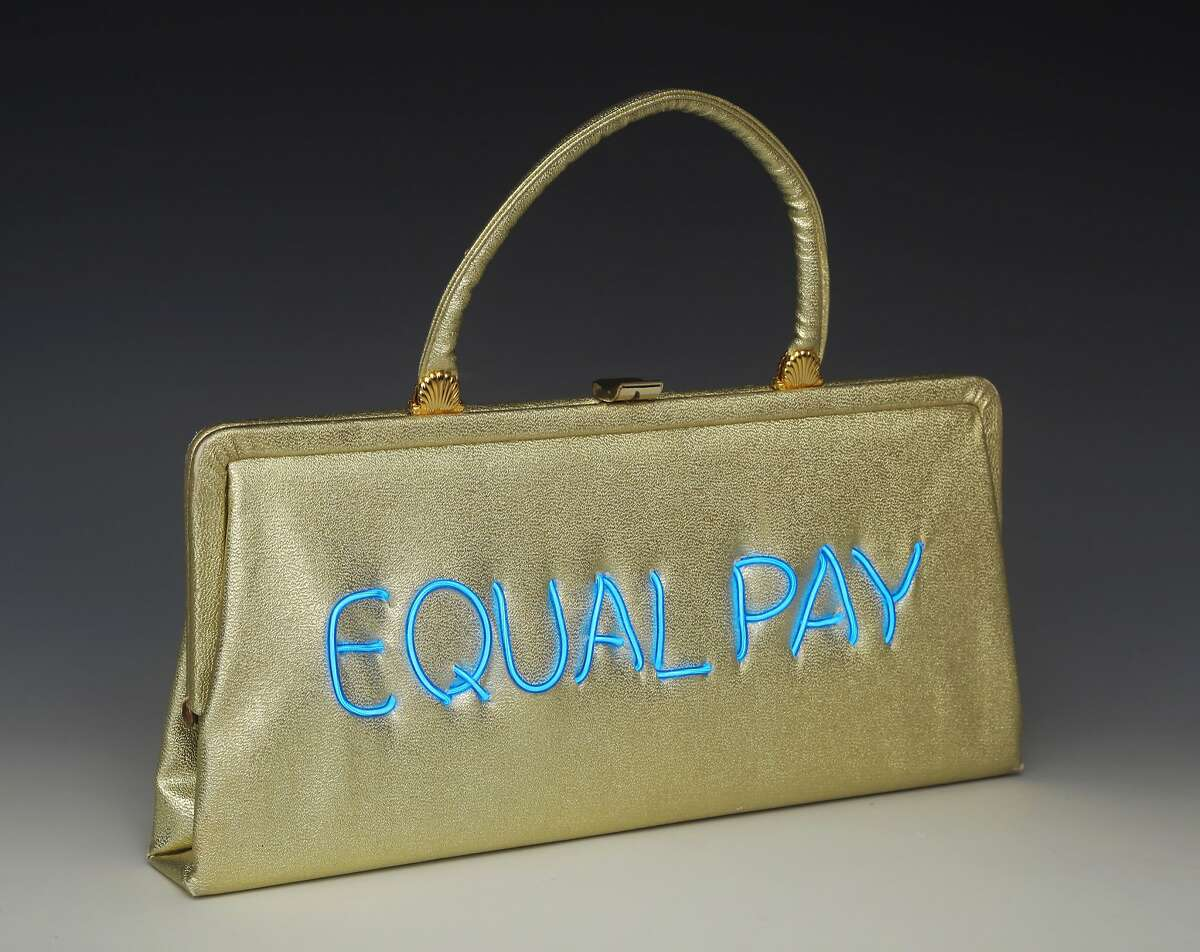 Michele Pred, a Berkeley artist, is making political statements with her Power of the Purse, a series of vintage handbags that incorporate meaningful, timely political messages. The series is limited edition, with only 10 made with each message.