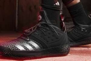 """""""Designed in triple black, the latest iteration of the Harden Vol. 2 draws inspiration from The Beard's ability to strike fear in his defender.""""   Browse through the photos for a closer look at the """"Nightmare"""" Vol. 2s."""