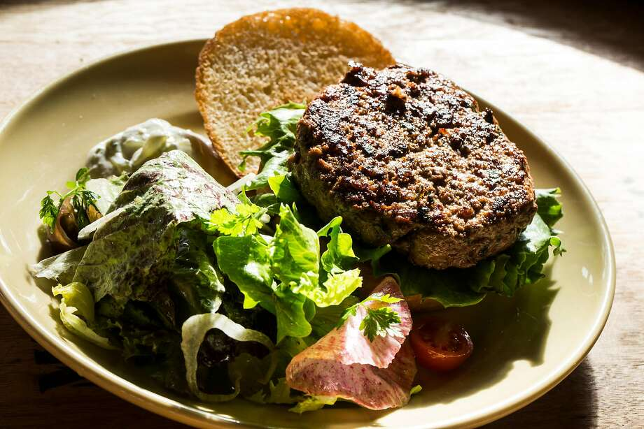 Lamb burger at Chow. Photo: Stephen Lam / Special To The Chronicle