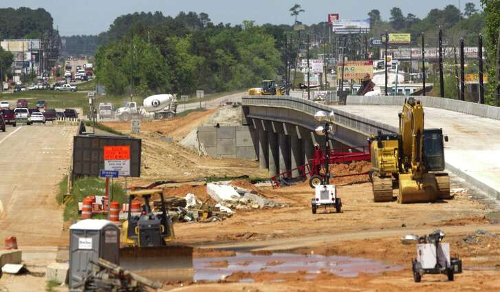 Construction continues on the Harris County Toll Road Authorities' portion of the Texas 249 toll project at the Montgomery County/Harris County line, Tuesday, April 10, 2018.